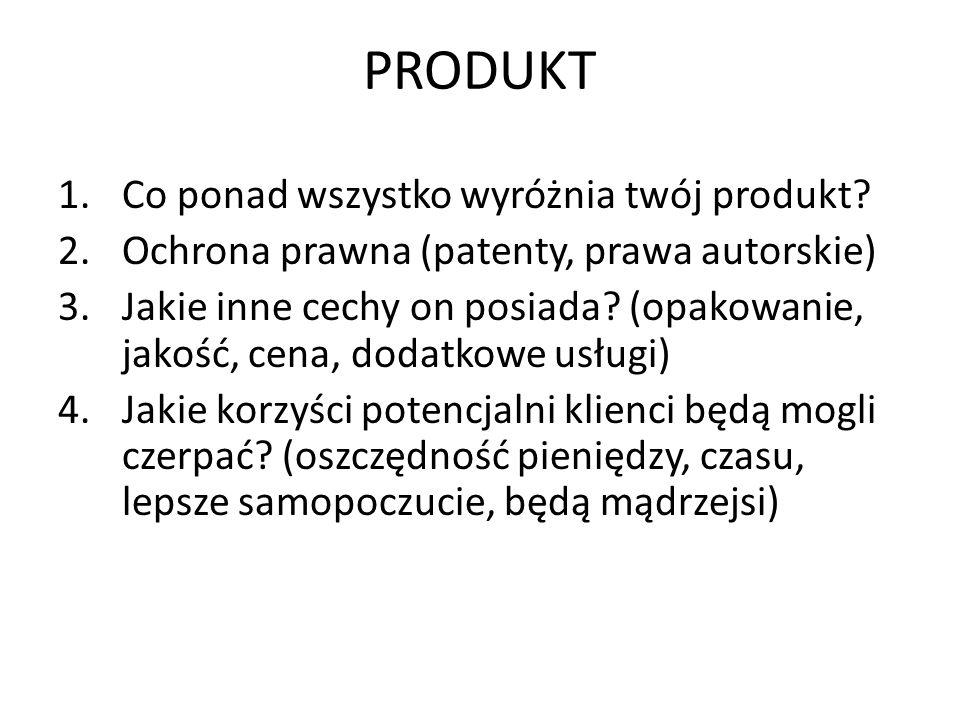 PRODUKT Co ponad wszystko wyróżnia twój produkt