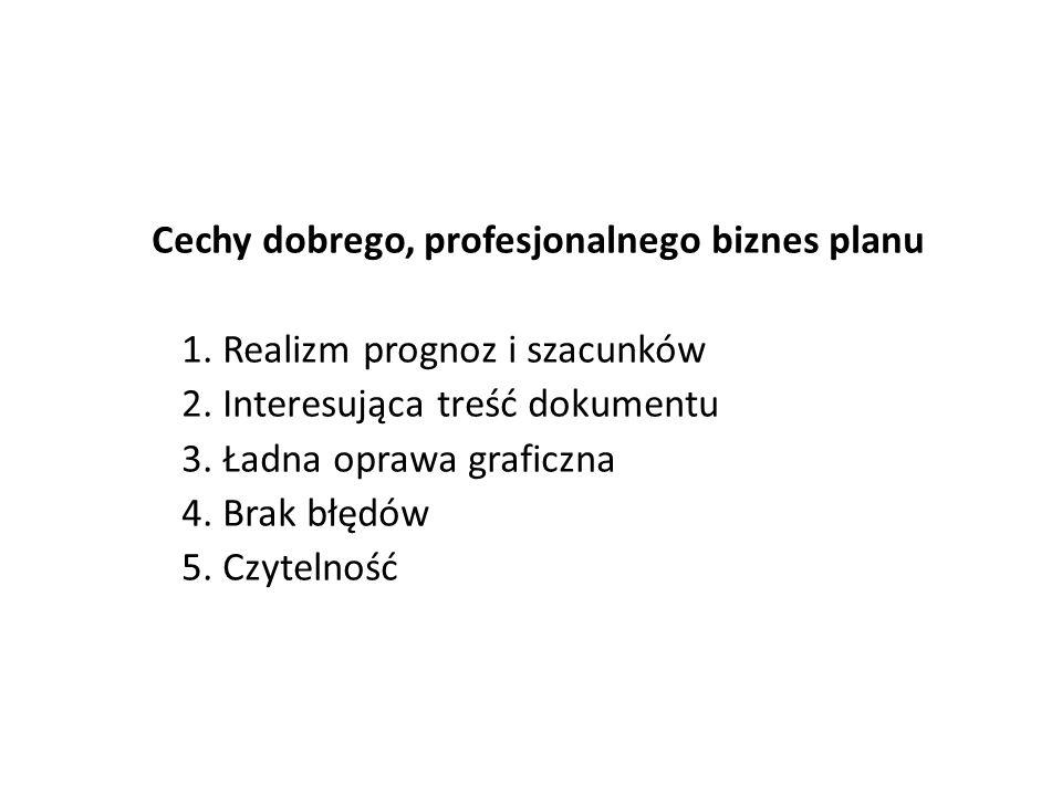 Cechy dobrego, profesjonalnego biznes planu