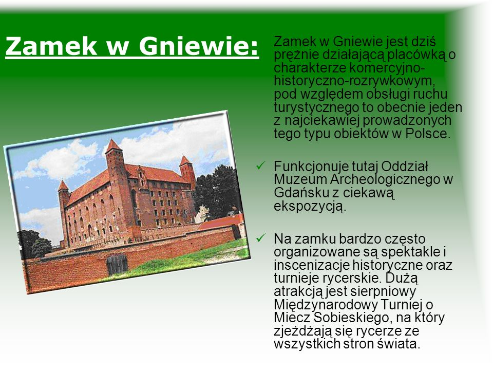 Zamek w Gniewie: