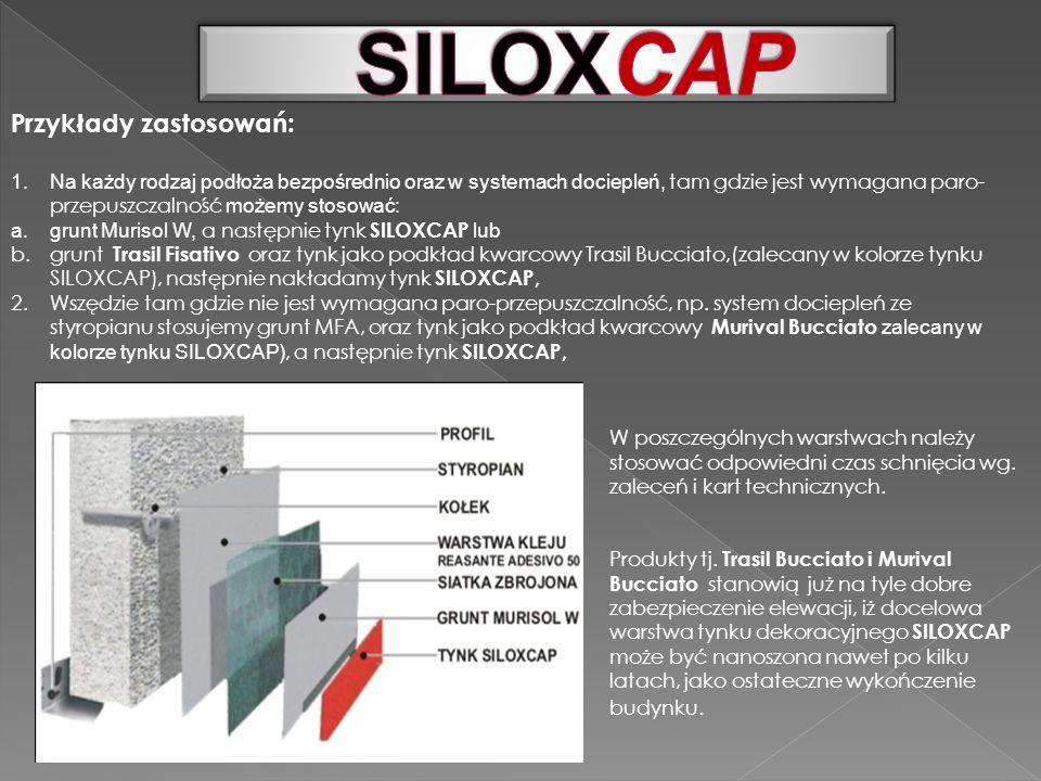 SILOXCAP Przykłady zastosowań: