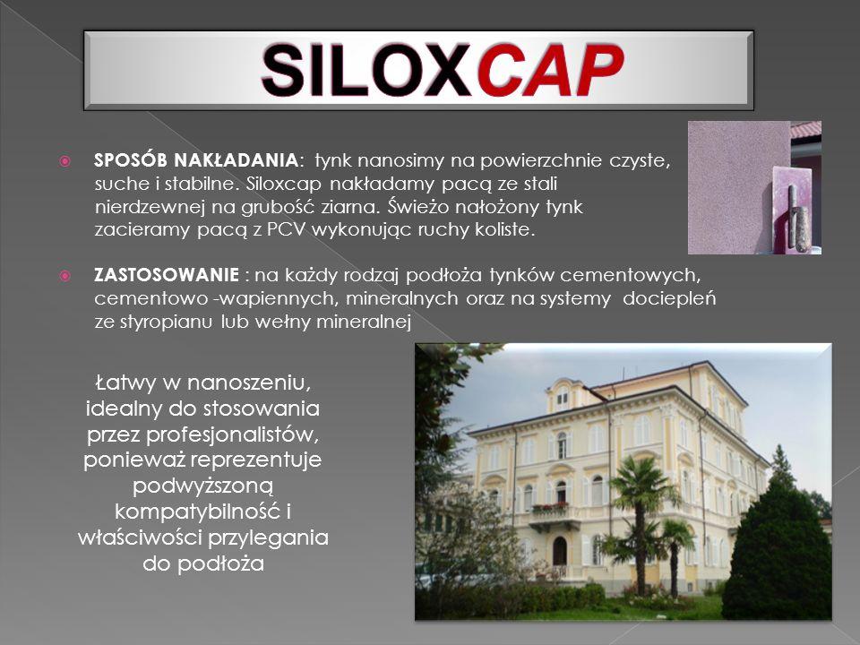 SILOXCAP SPOSÓB NAKŁADANIA: tynk nanosimy na powierzchnie czyste, suche i stabilne. Siloxcap nakładamy pacą ze stali.