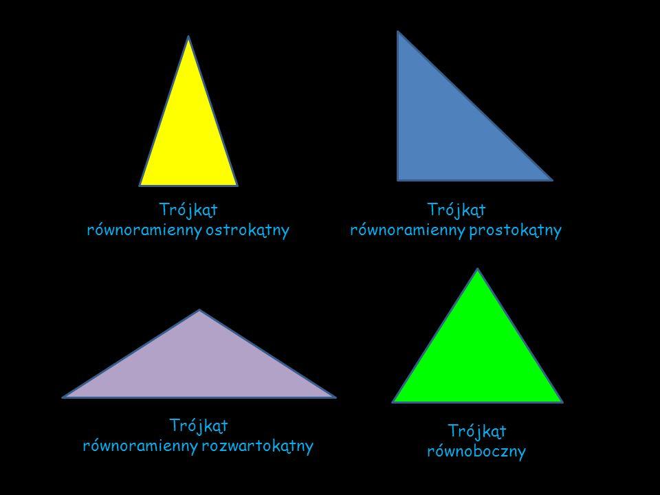 równoramienny ostrokątny Trójkąt równoramienny prostokątny