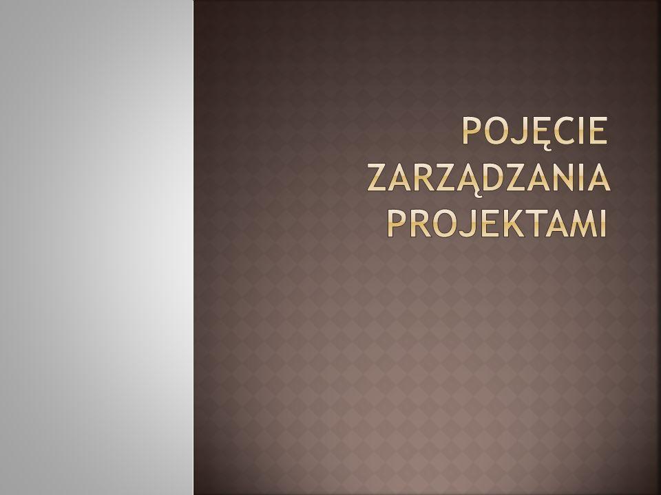 Pojęcie zarządzania projektami
