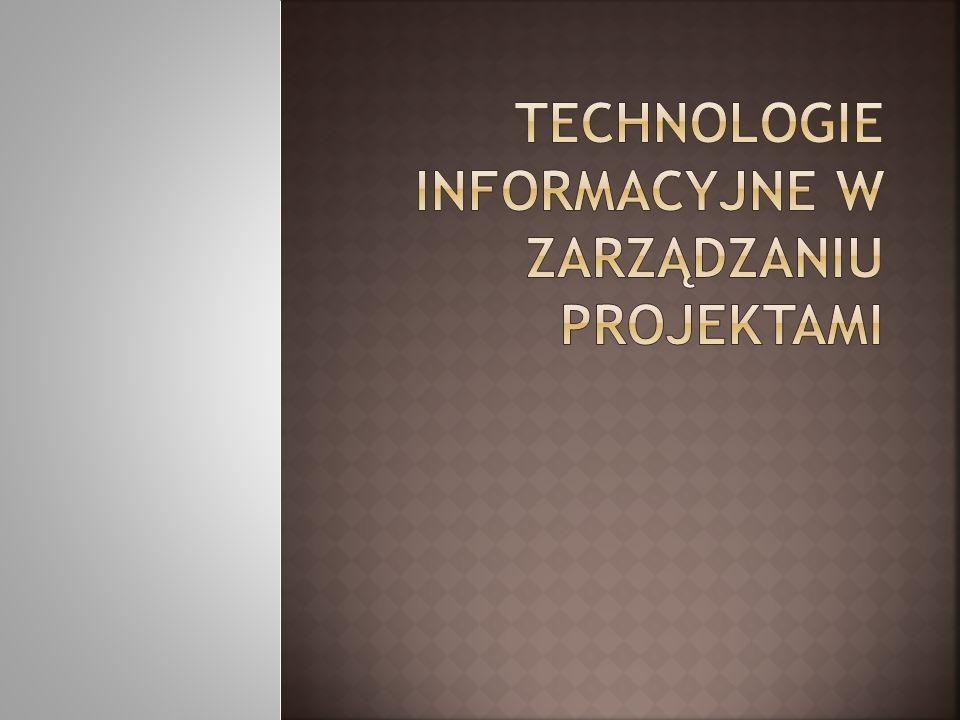 Technologie informacyjne w zarządzaniu projektami