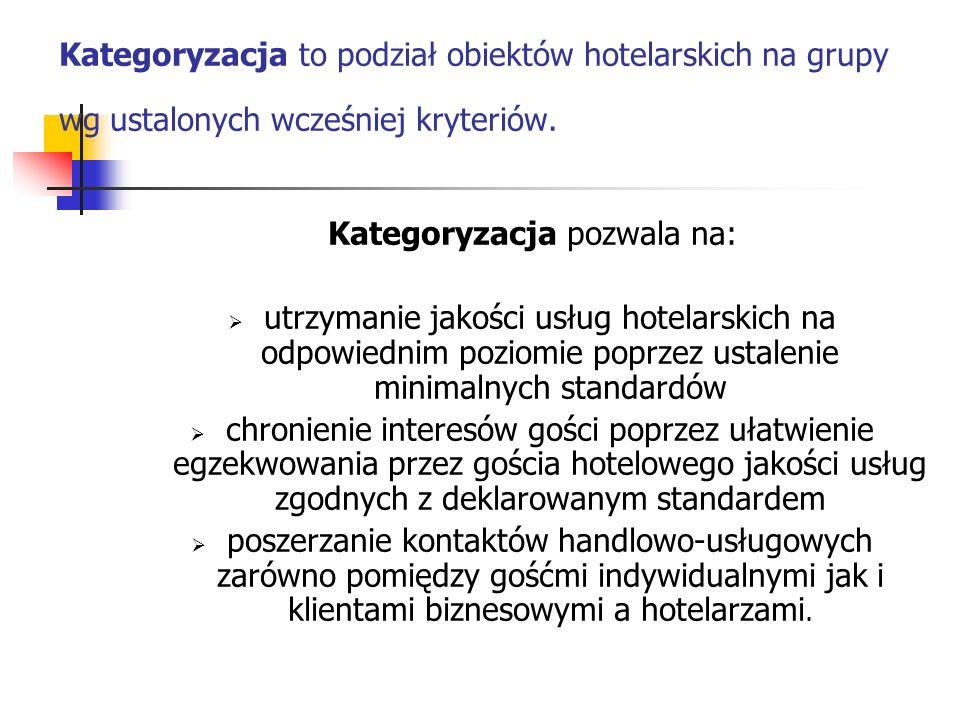 Kategoryzacja pozwala na:
