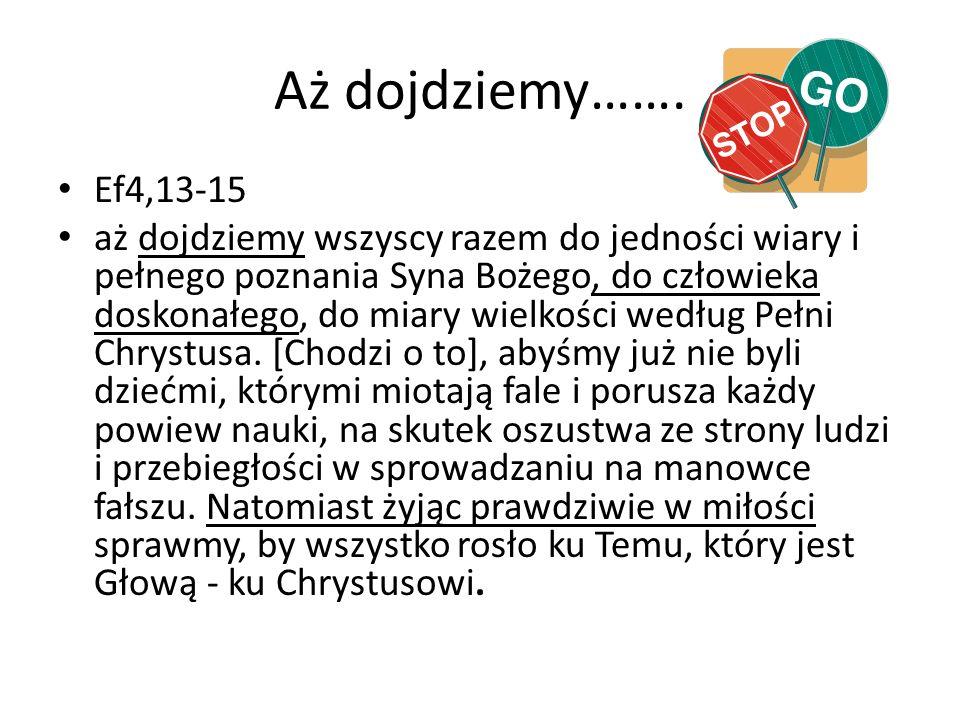 Aż dojdziemy……. Ef4,13-15.
