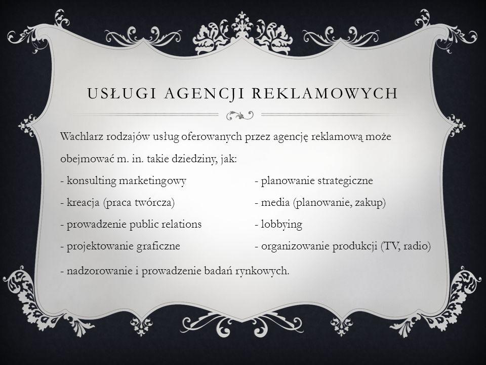Usługi Agencji reklamowych