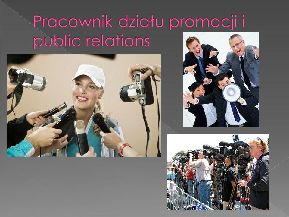 Pracownik działu promocji i public relations
