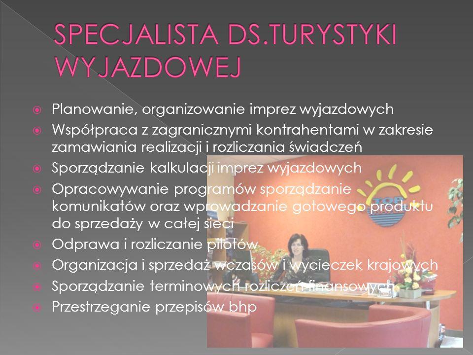 SPECJALISTA DS.TURYSTYKI WYJAZDOWEJ