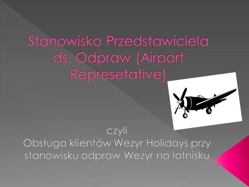 Stanowisko Przedstawiciela ds. Odpraw (Airport Represetative)