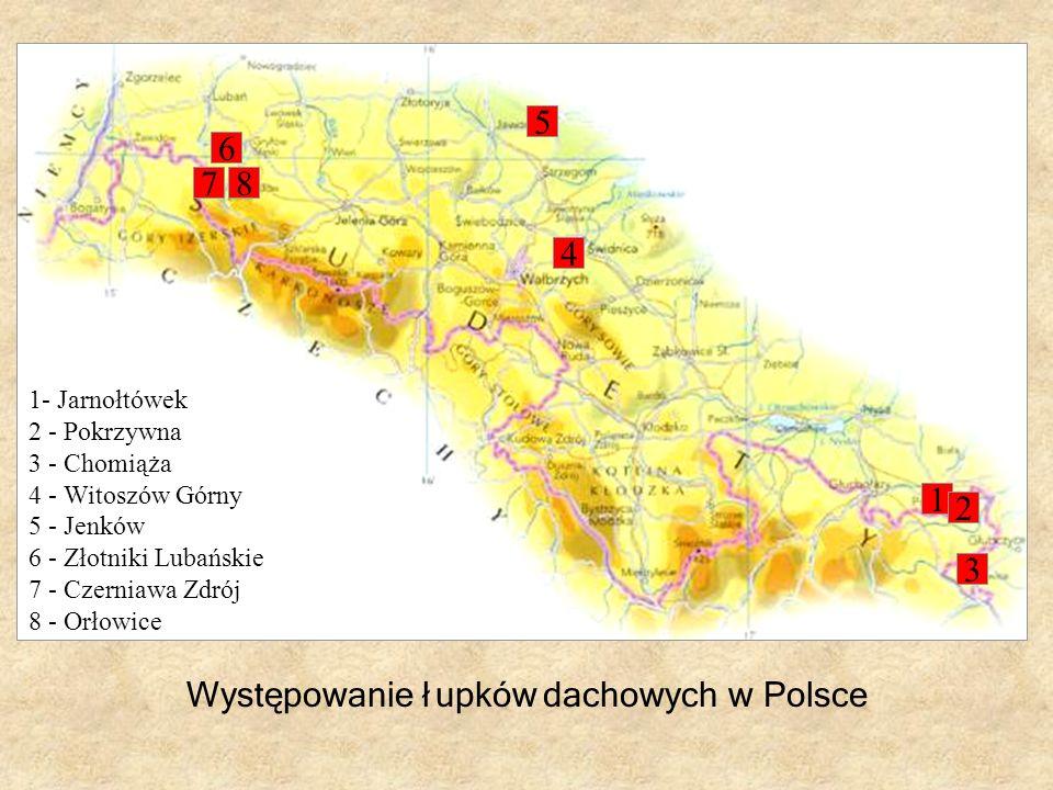 Występowanie łupków dachowych w Polsce