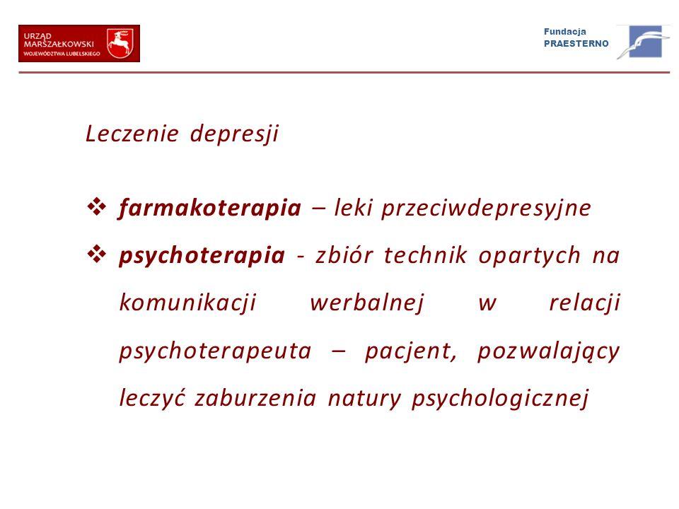 Leczenie depresji farmakoterapia – leki przeciwdepresyjne.