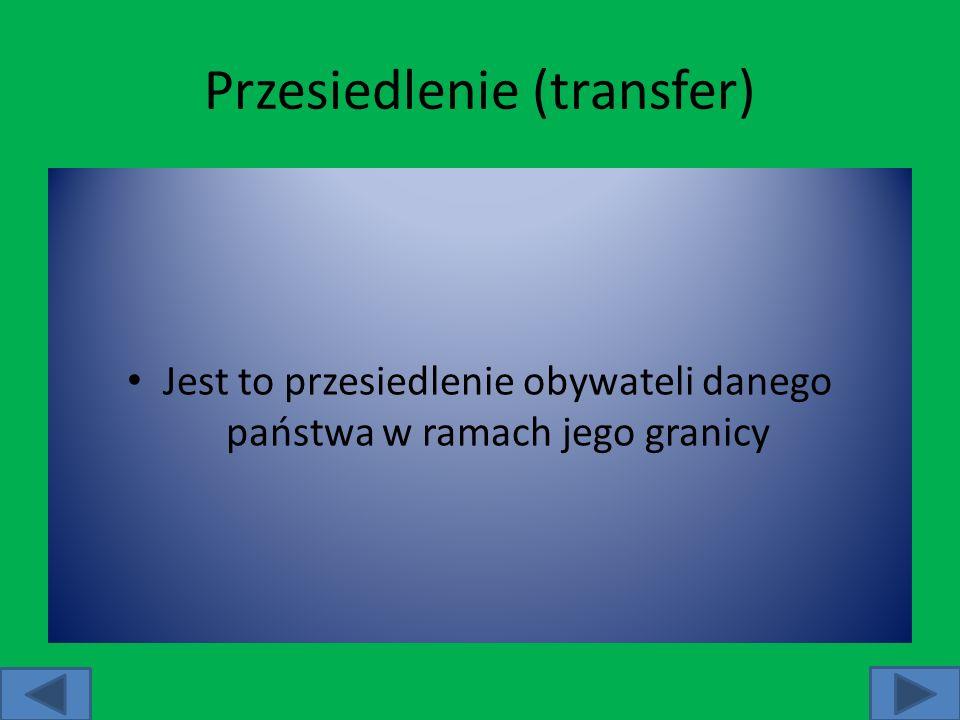 Przesiedlenie (transfer)