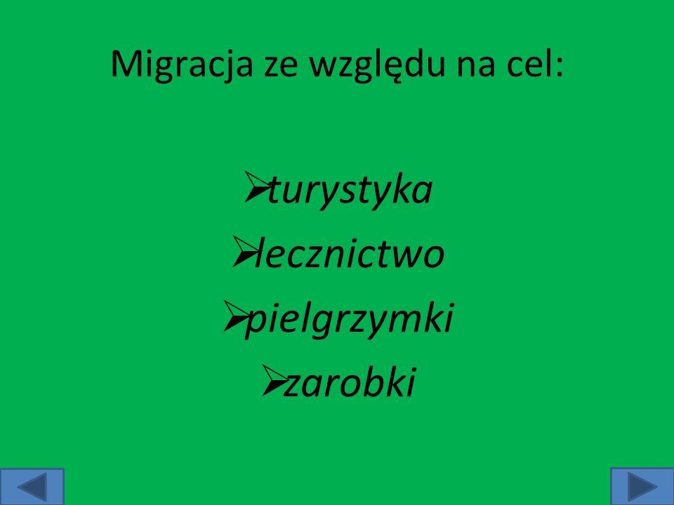 Migracja ze względu na cel:
