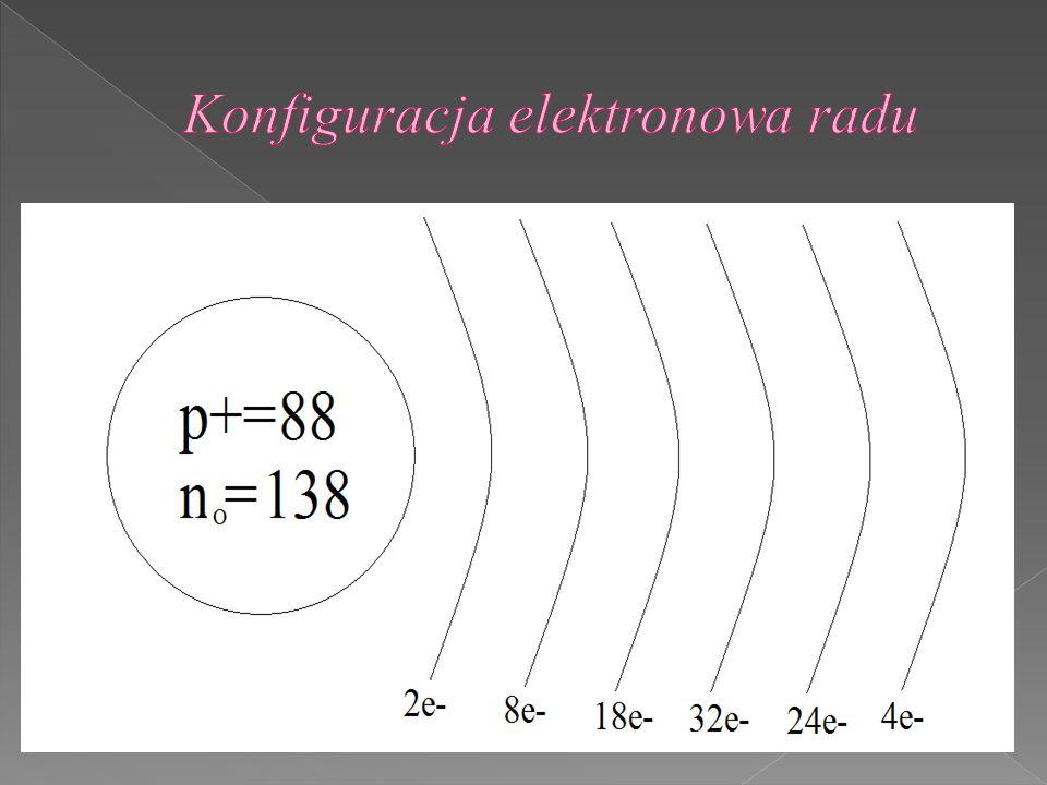 Konfiguracja elektronowa radu