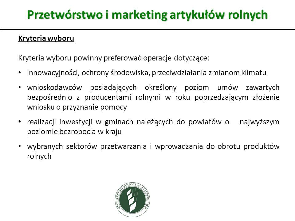 Przetwórstwo i marketing artykułów rolnych