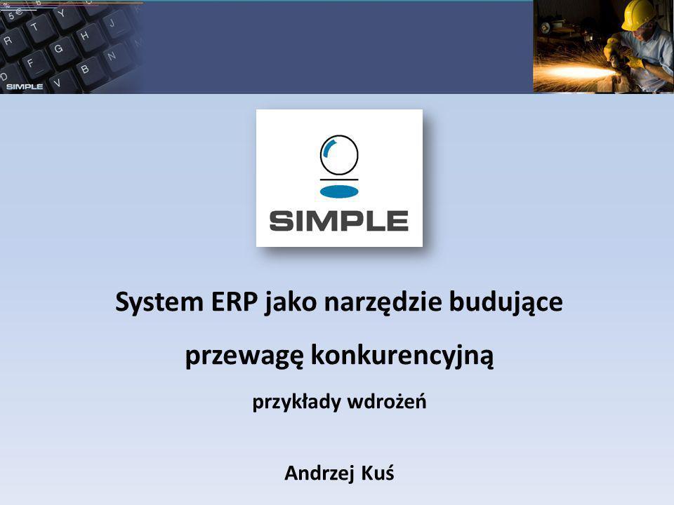 System ERP jako narzędzie budujące przewagę konkurencyjną