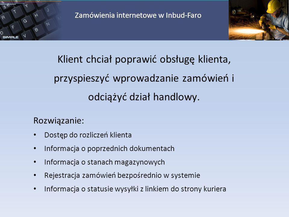 Zamówienia internetowe w Inbud-Faro