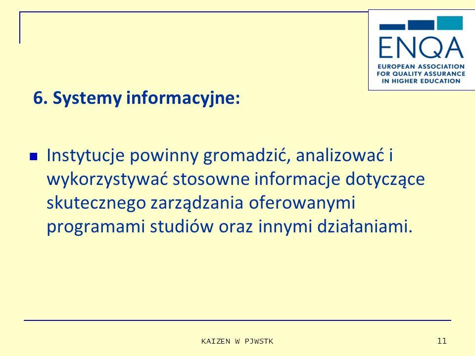6. Systemy informacyjne: