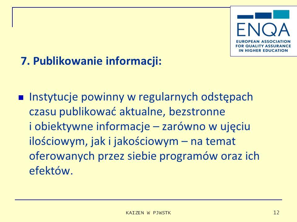 7. Publikowanie informacji: