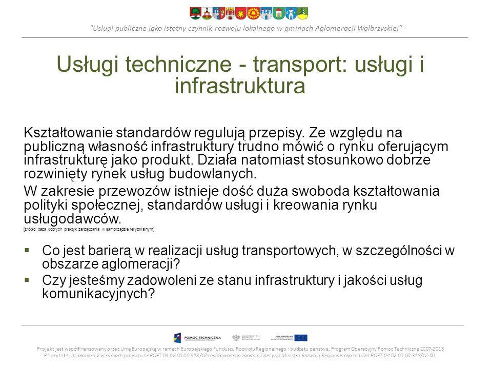 Usługi techniczne - transport: usługi i infrastruktura