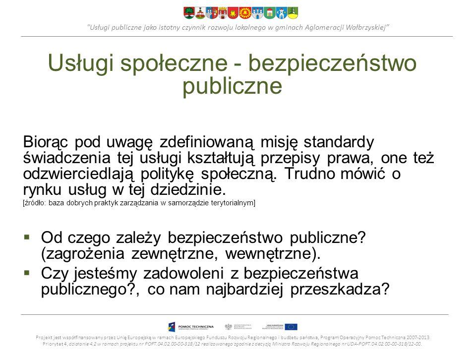 Usługi społeczne - bezpieczeństwo publiczne