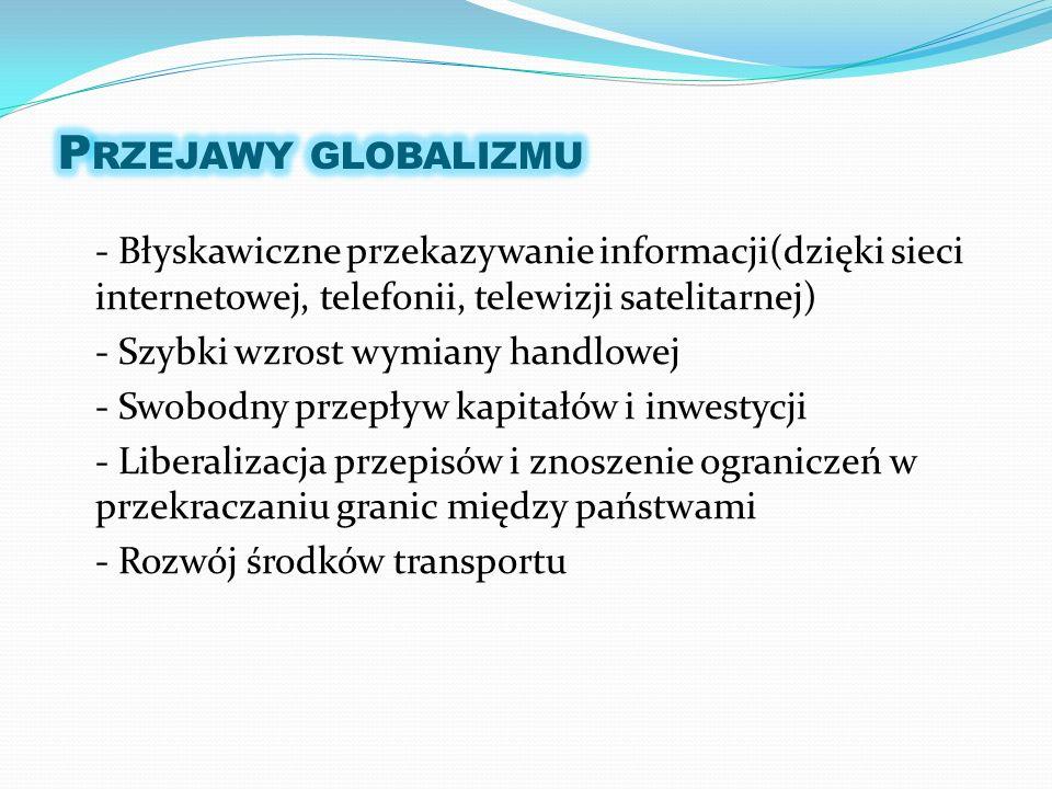 Przejawy globalizmu