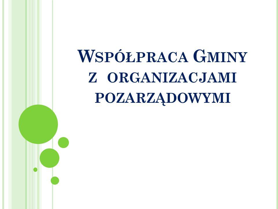 Współpraca Gminy z organizacjami pozarządowymi
