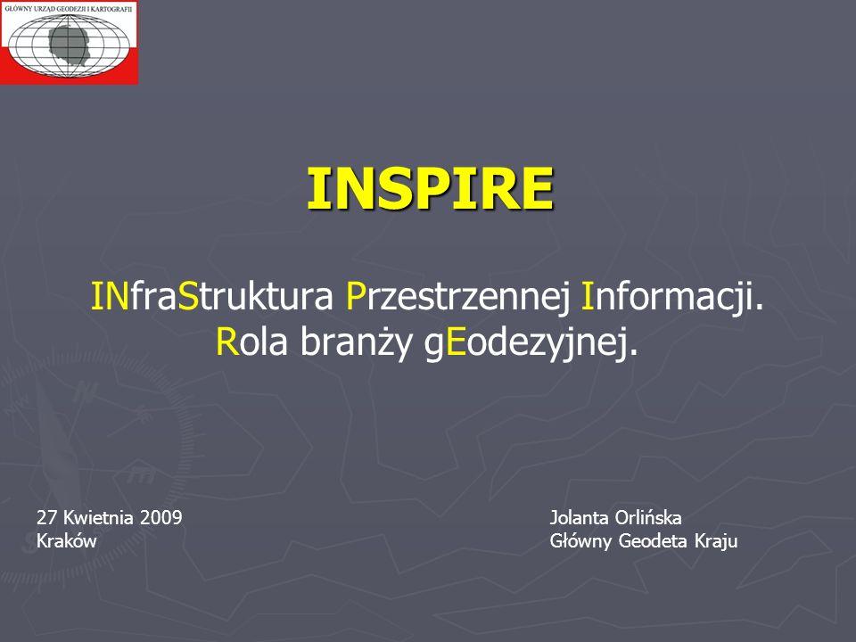 INSPIRE INfraStruktura Przestrzennej Informacji.
