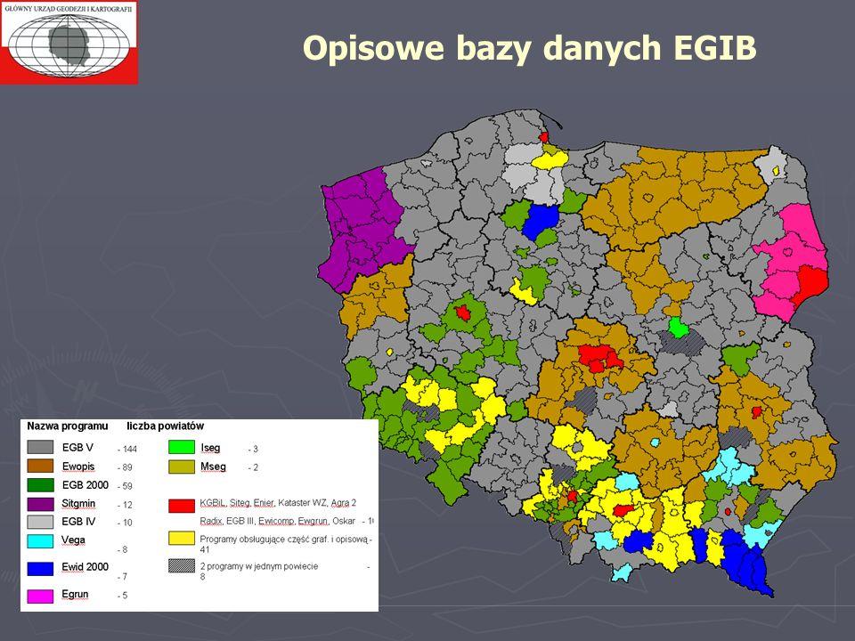 Opisowe bazy danych EGIB