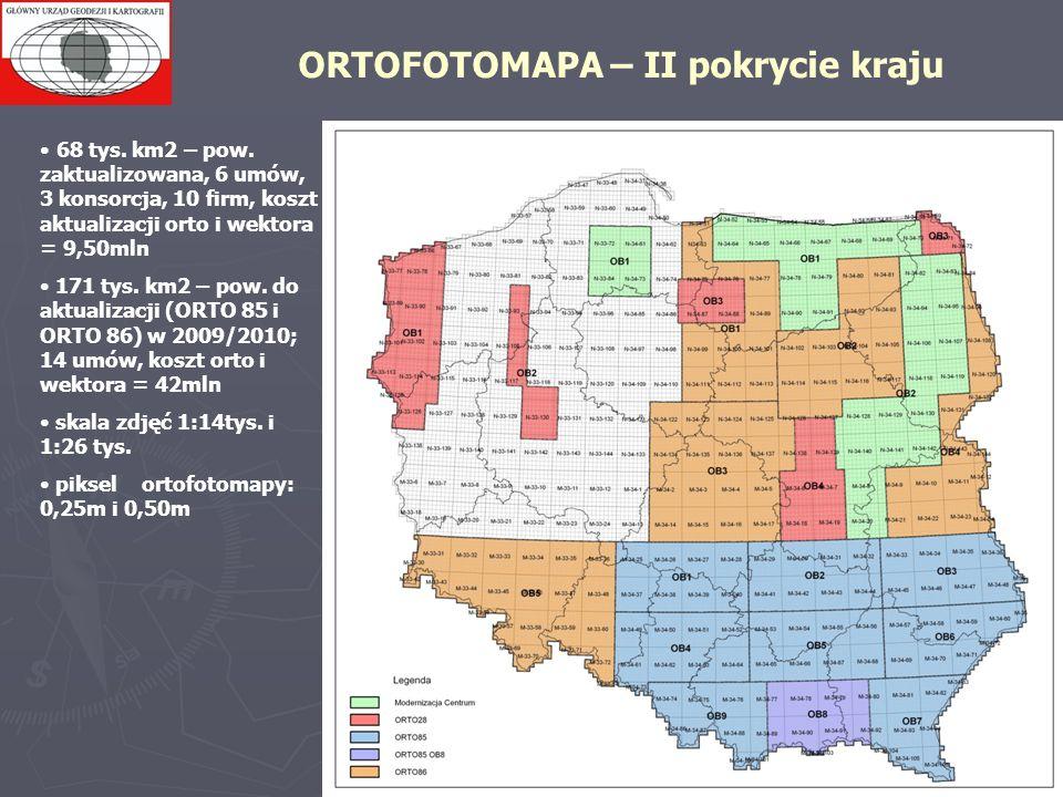 ORTOFOTOMAPA – II pokrycie kraju