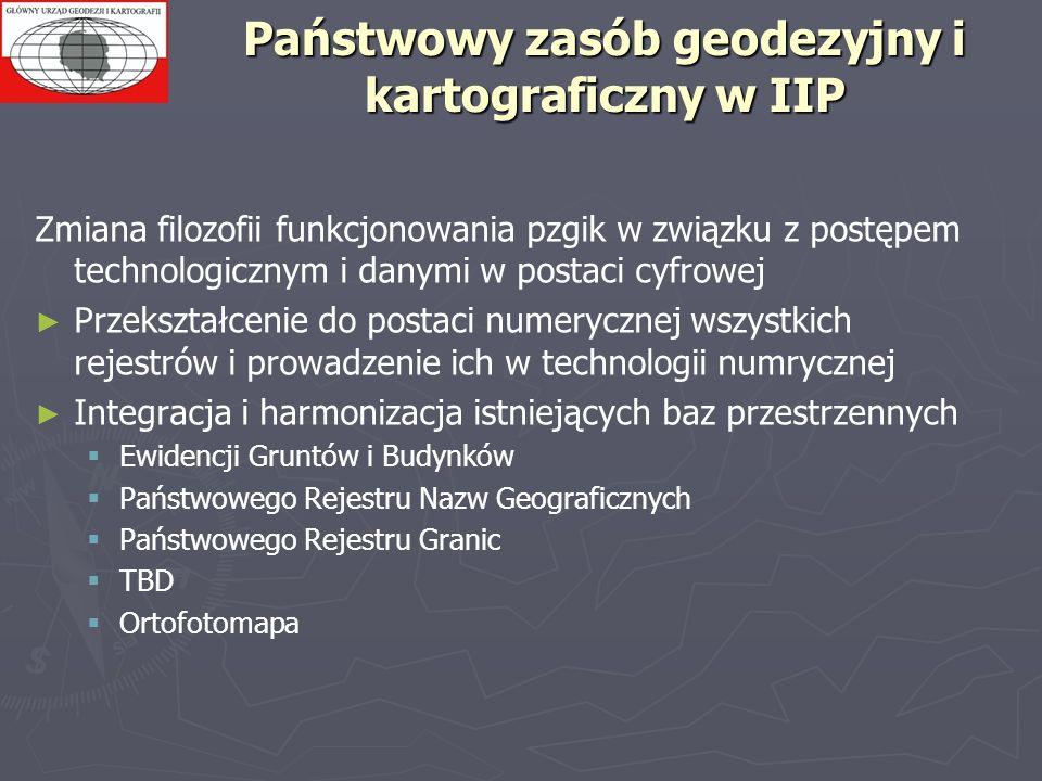 Państwowy zasób geodezyjny i kartograficzny w IIP