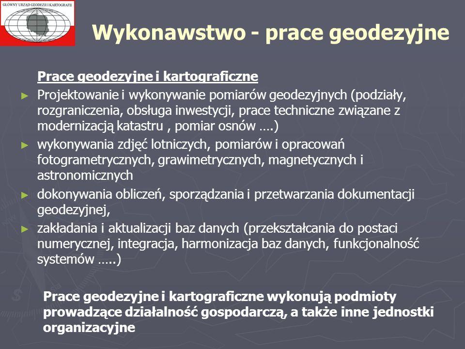 Wykonawstwo - prace geodezyjne