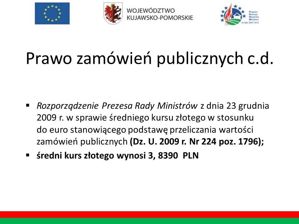 Prawo zamówień publicznych c.d.