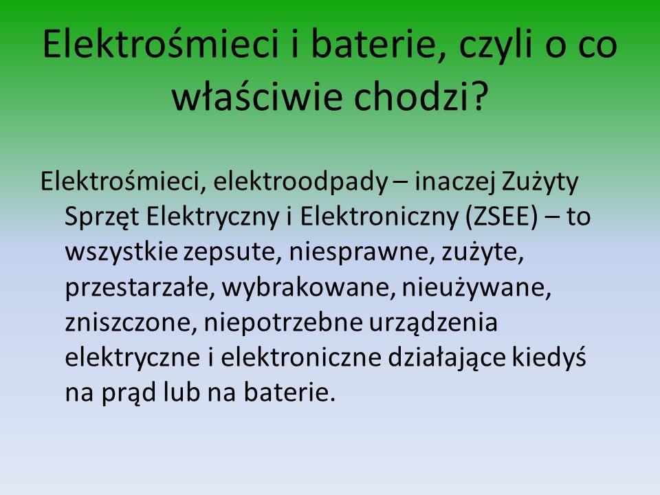 Elektrośmieci i baterie, czyli o co właściwie chodzi