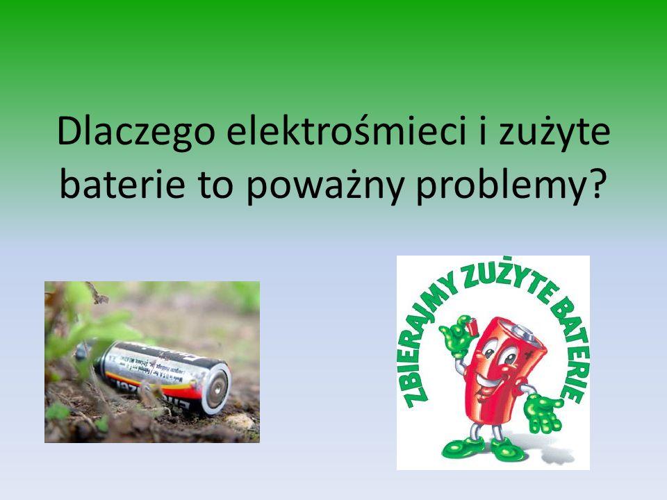 Dlaczego elektrośmieci i zużyte baterie to poważny problemy