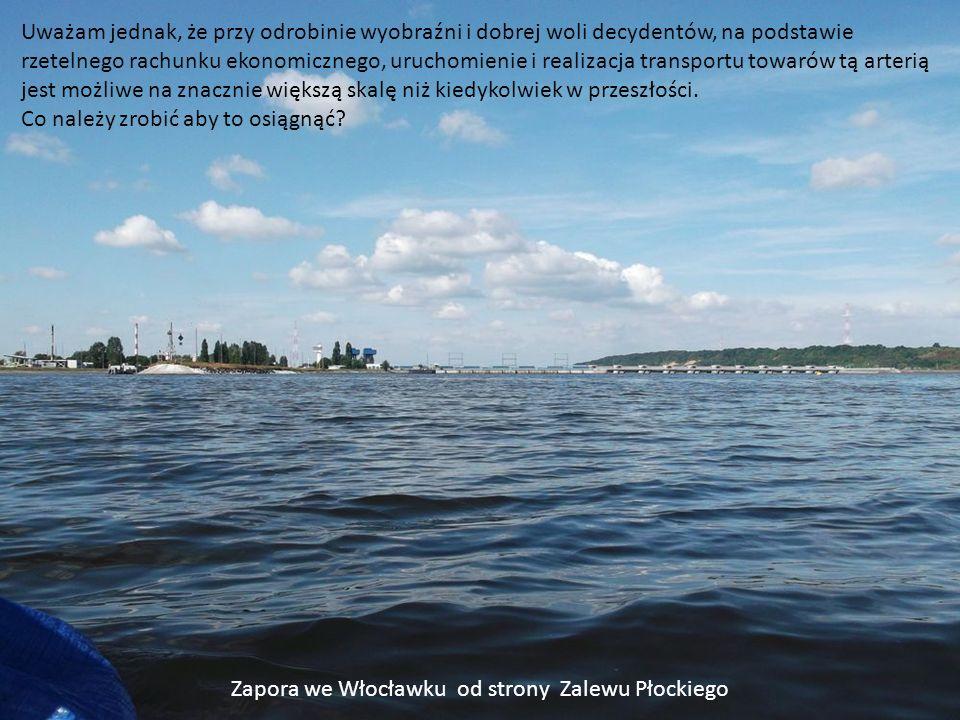 Zapora we Włocławku od strony Zalewu Płockiego
