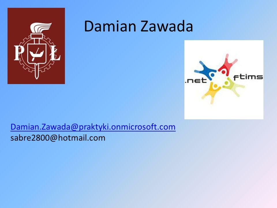 Damian Zawada Damian.Zawada@praktyki.onmicrosoft.com