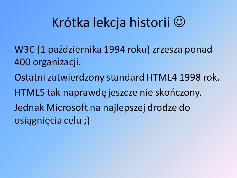 Krótka lekcja historii 