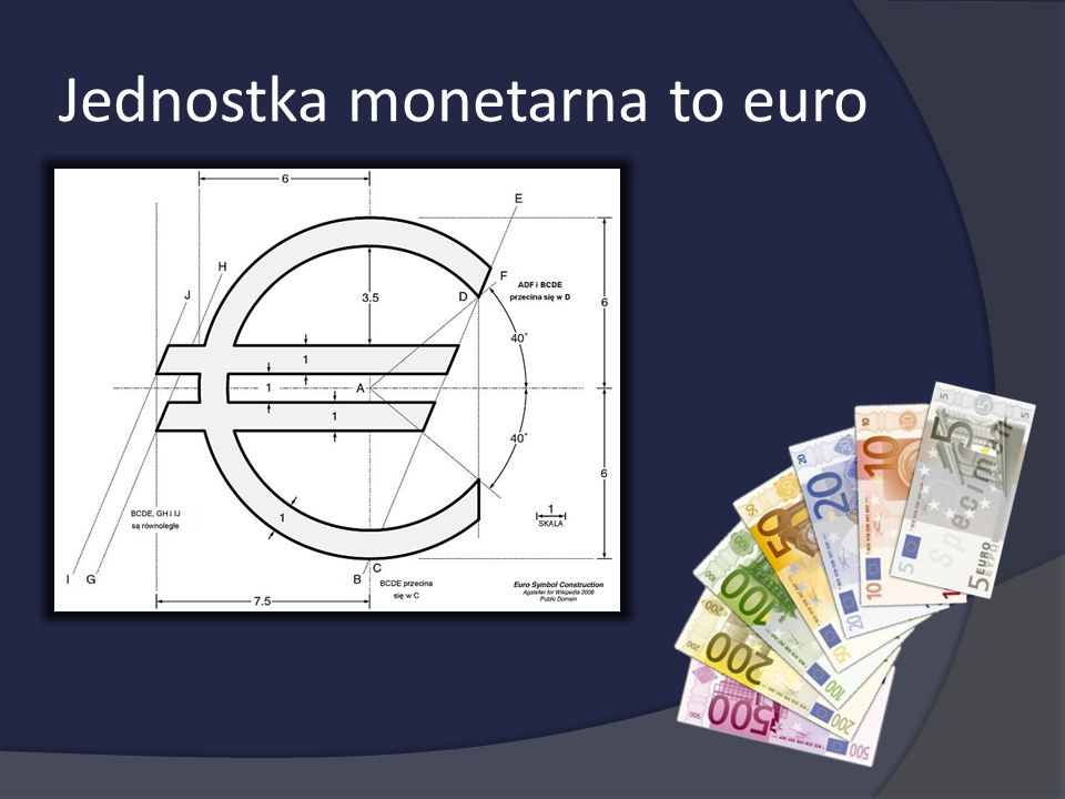 Jednostka monetarna to euro