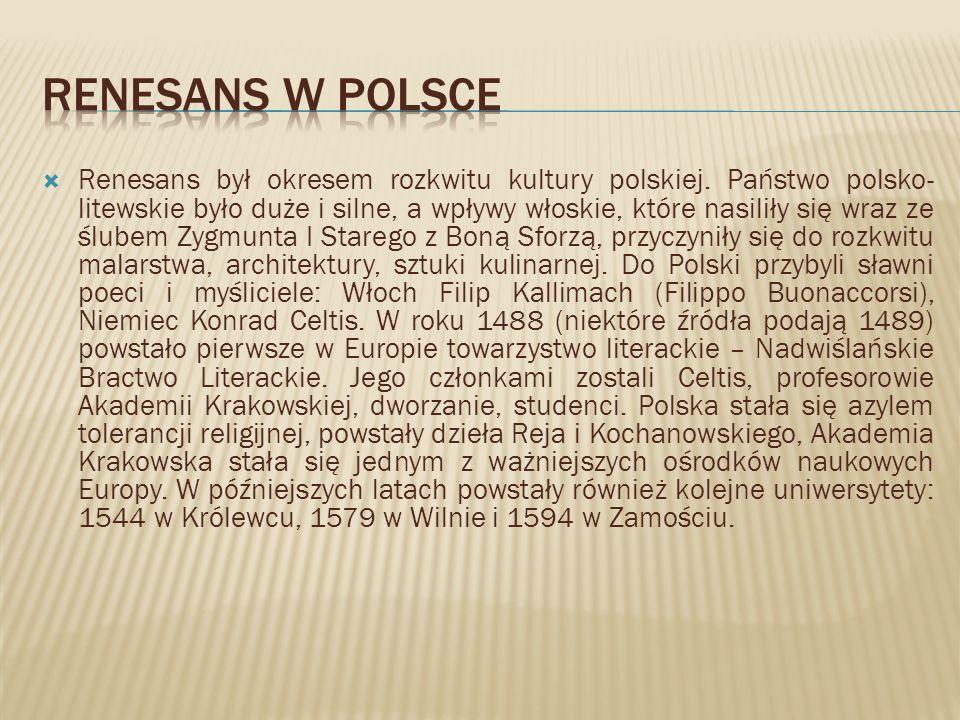 Renesans w polsce