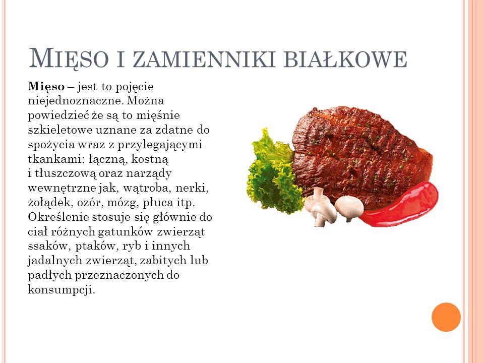 Mięso i zamienniki białkowe