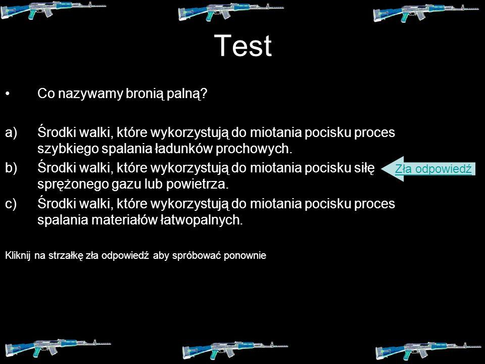 Test Co nazywamy bronią palną