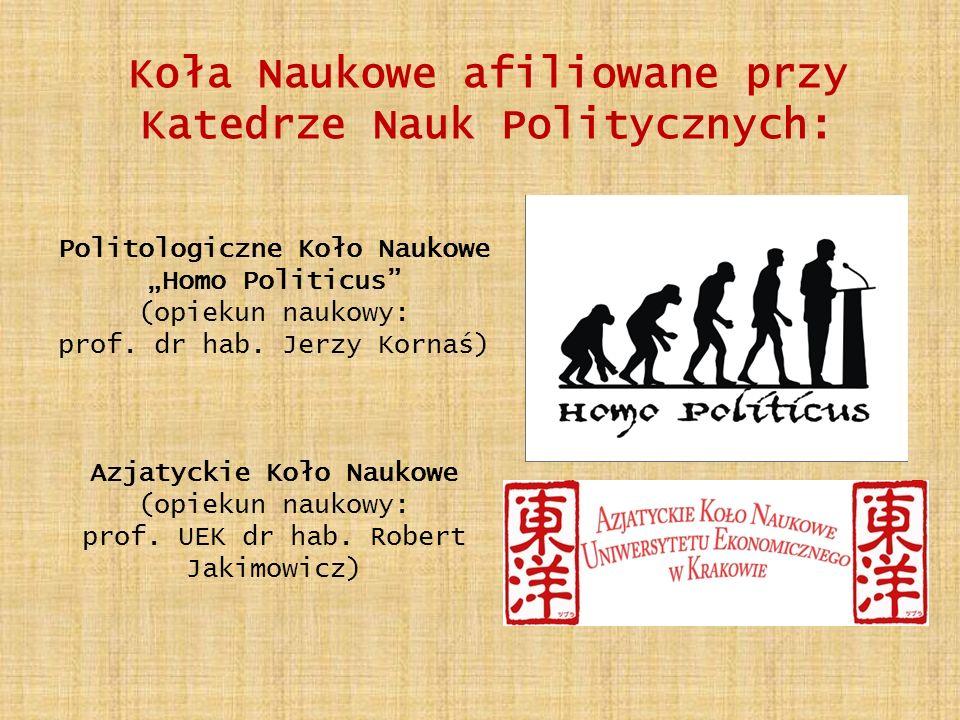 Koła Naukowe afiliowane przy Katedrze Nauk Politycznych: