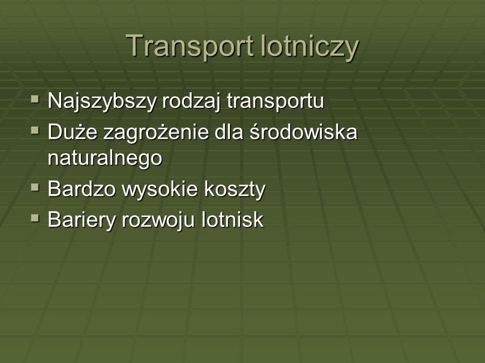 Transport lotniczy Najszybszy rodzaj transportu
