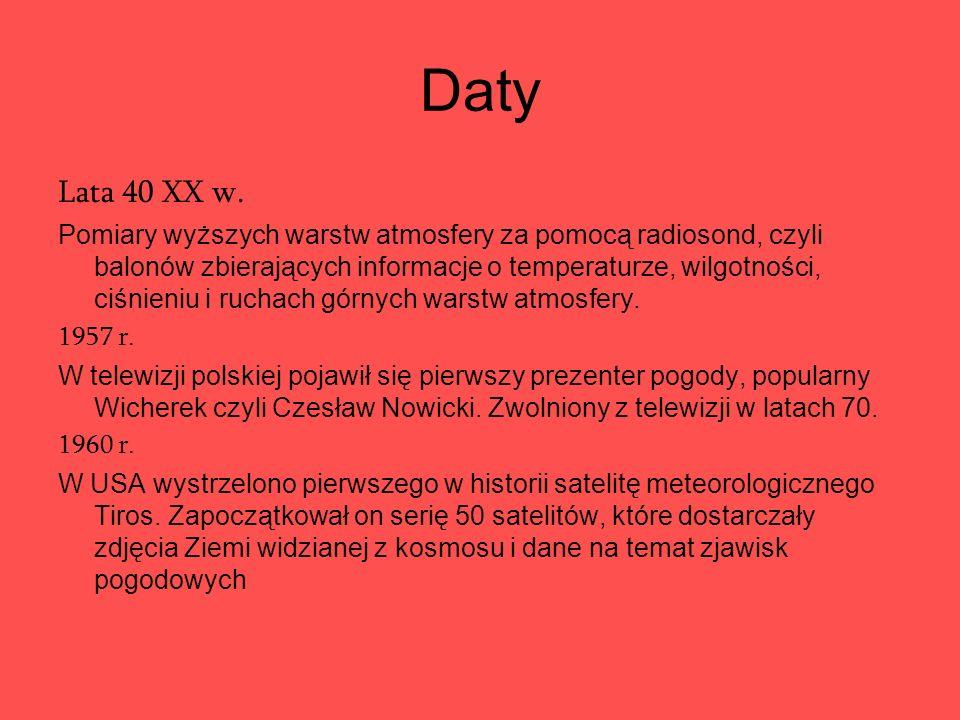 Daty Lata 40 XX w.