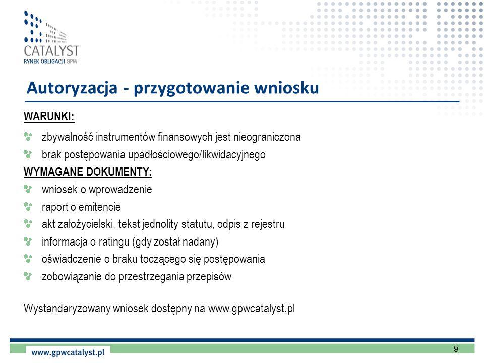 Autoryzacja - przygotowanie wniosku