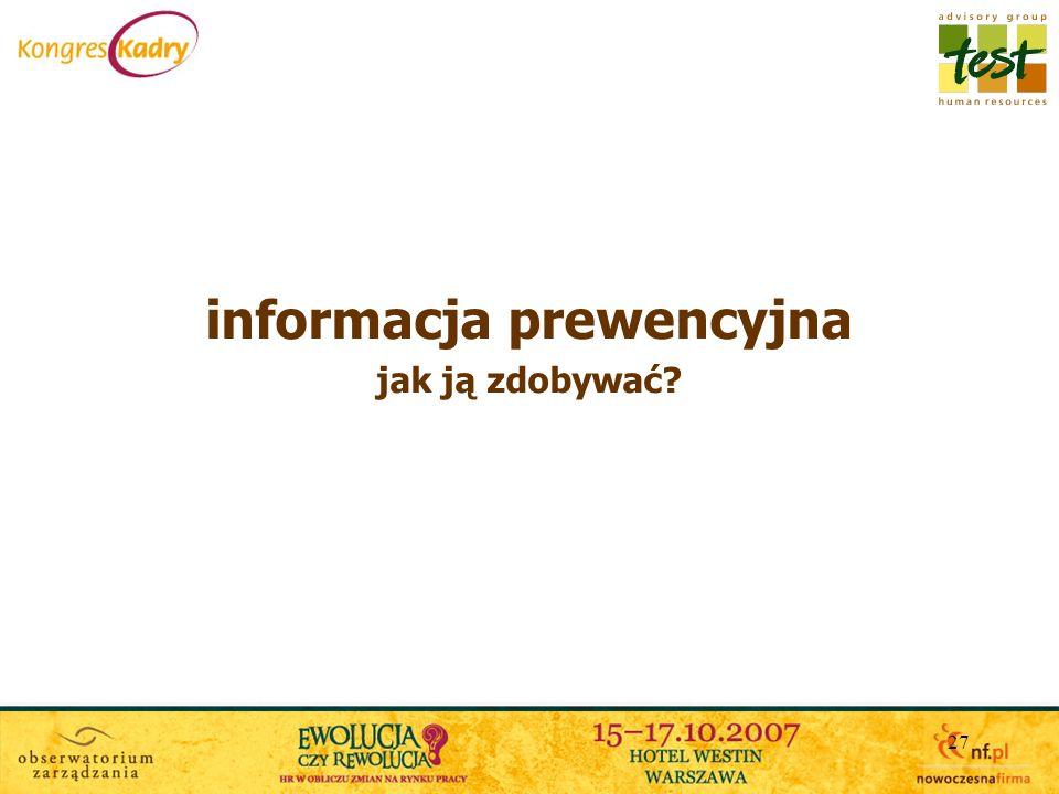 informacja prewencyjna