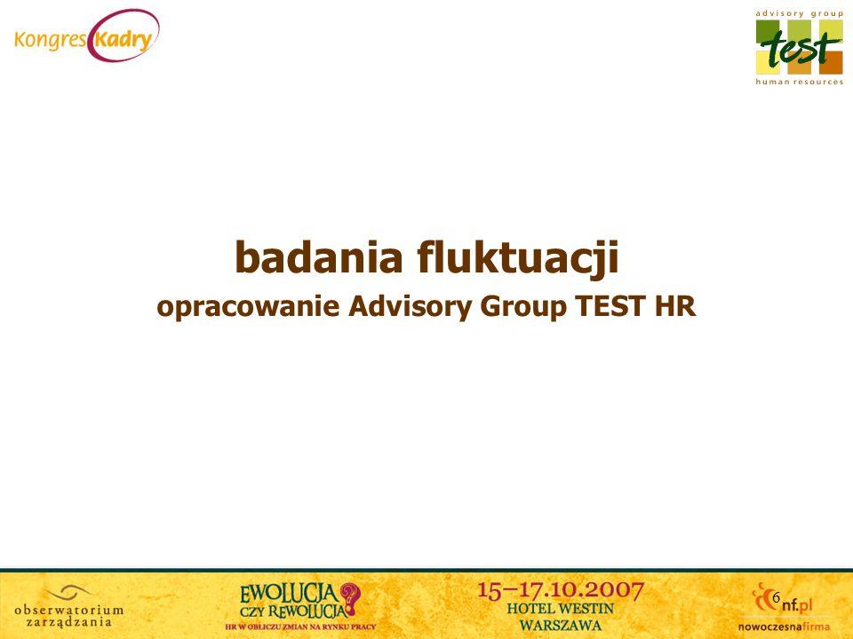 opracowanie Advisory Group TEST HR