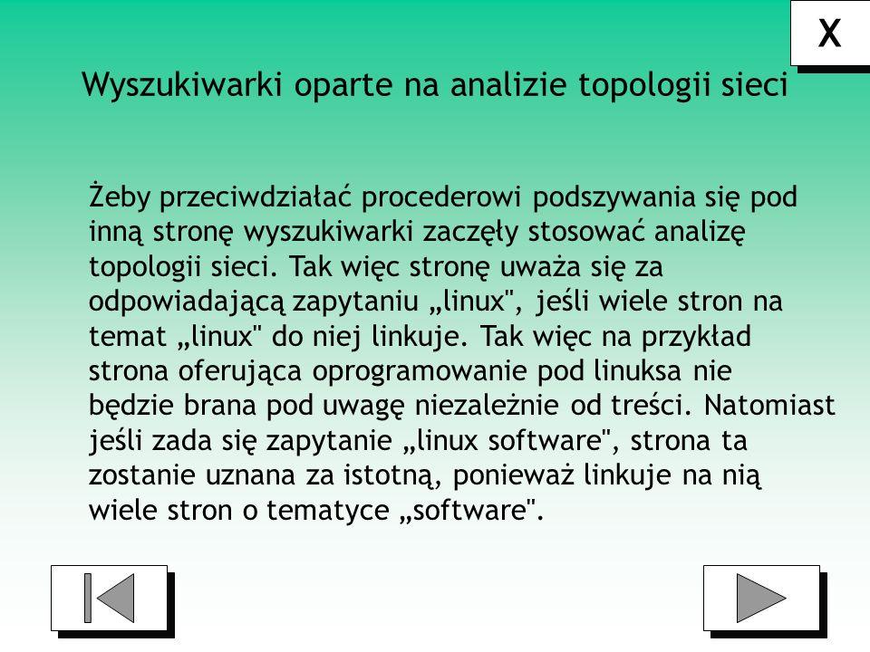 Wyszukiwarki oparte na analizie topologii sieci